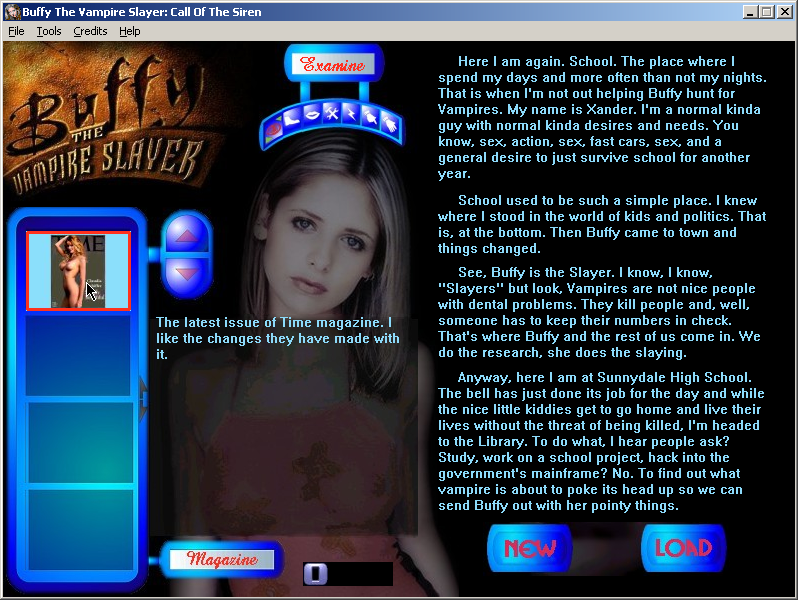 Buffy the Vampire Slayer: Call of the Siren Windows Introduction, inventory management