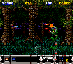 Thunder Spirits SNES Hitting an enemy with bullets
