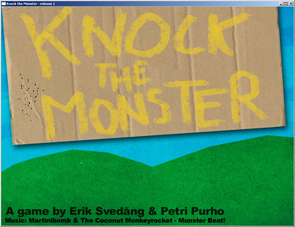 Knock the Monster Windows Title screen