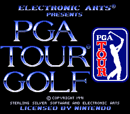 PGA Tour Golf SNES Title screen