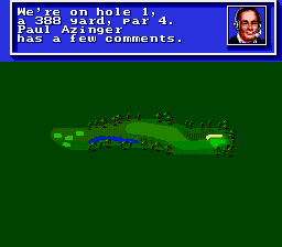 PGA Tour Golf SNES Overview of the first hole