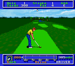 PGA Tour Golf SNES At the tee