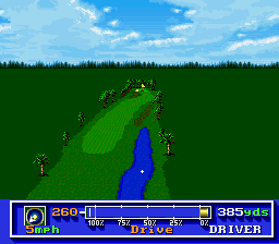 PGA Tour Golf SNES A water hazard