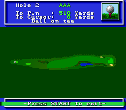 PGA Tour Golf SNES Hole 2