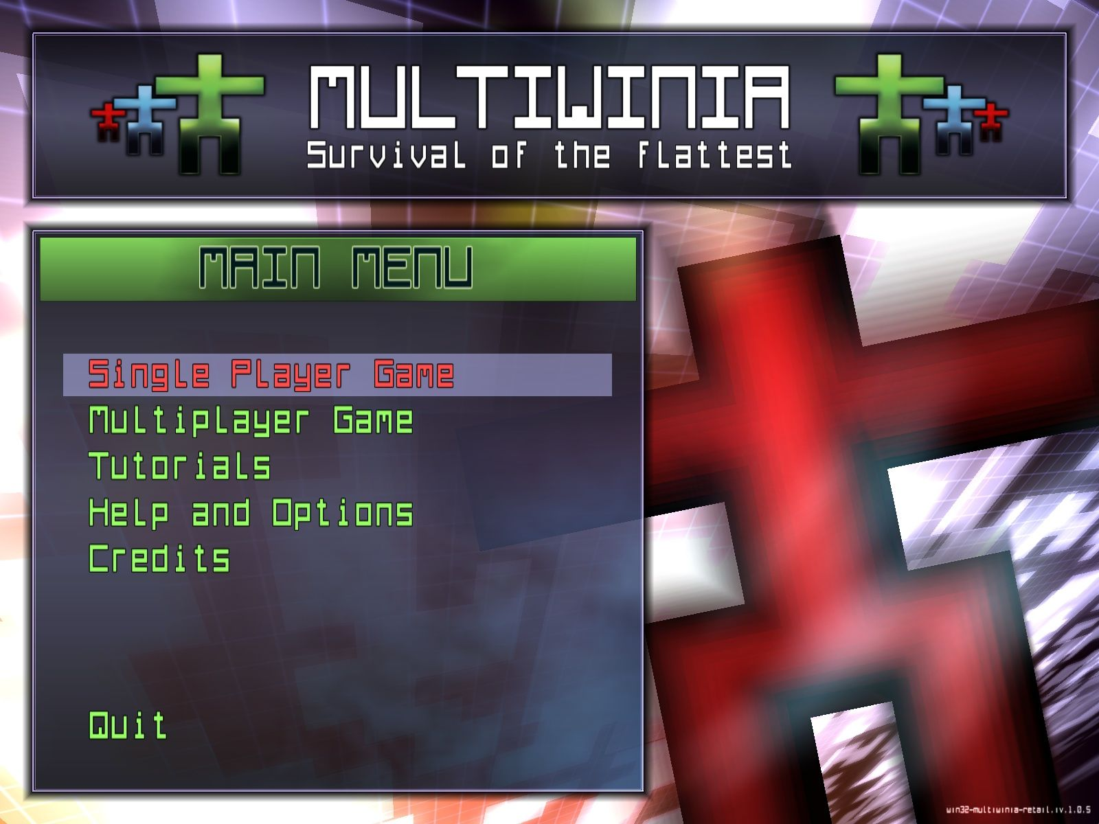Multiwinia: Survival of the Flattest Windows Main menu