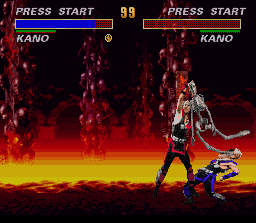 Ultimate Mortal Kombat 3 SNES BRUTALITY! Now Kano can call his clone spineless!
