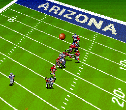 Bill Walsh College Football  SNES The field rotates when the ball switches possession.