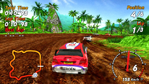 SEGA Rally Revo PSP My Citroën has some trouble catching up.
