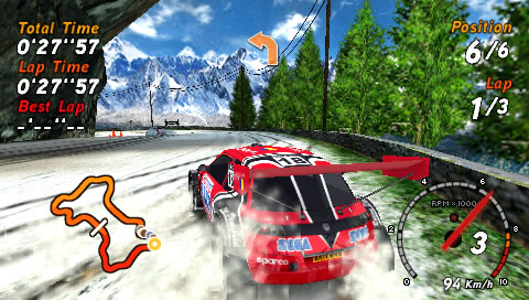 SEGA Rally Revo PSP A SEGA-branded car