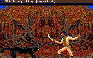 Sinbad and the Throne of the Falcon Amiga Sinbad takes on the black panther.