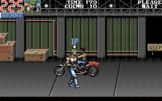 Double Dragon III: The Sacred Stones Atari ST Beating this motorcycle guy can be tricky