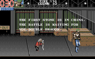 Double Dragon III: The Sacred Stones Atari ST The fortune teller tells you where to go next