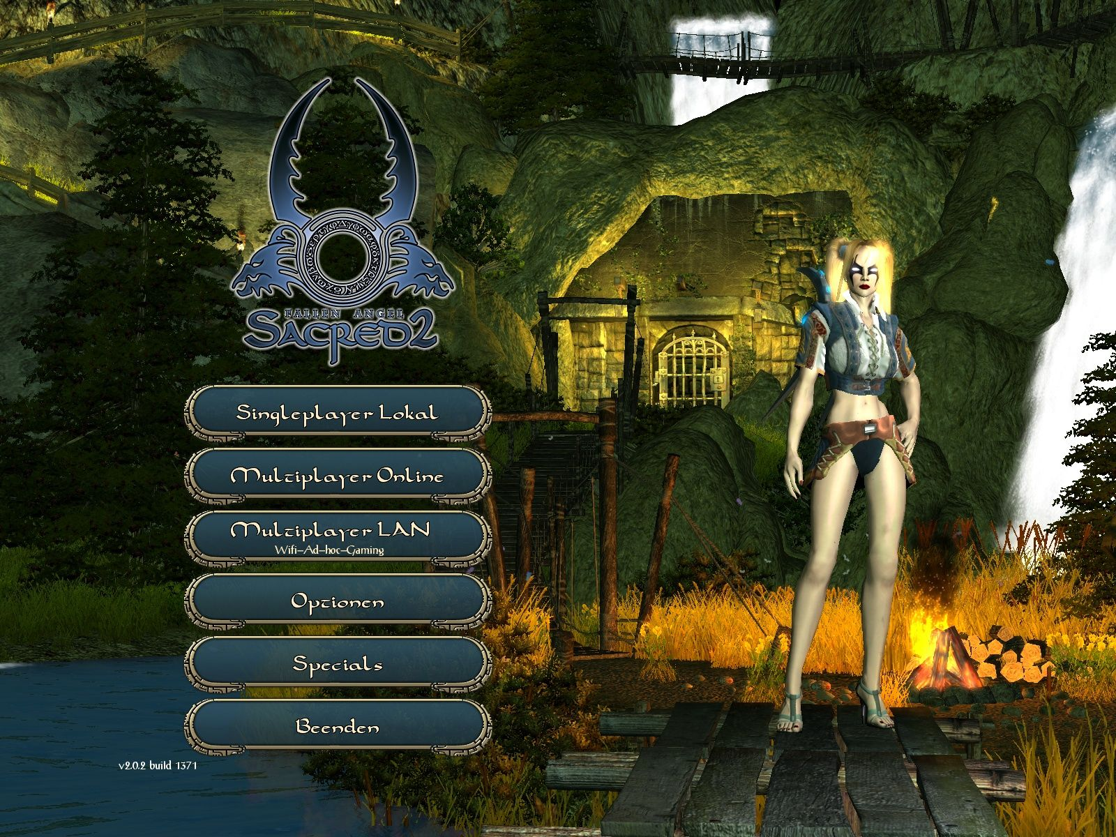 Sacred 2: Fallen Angel Windows Main Menu