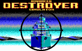 Advanced Destroyer Simulator DOS Title screen (EGA)