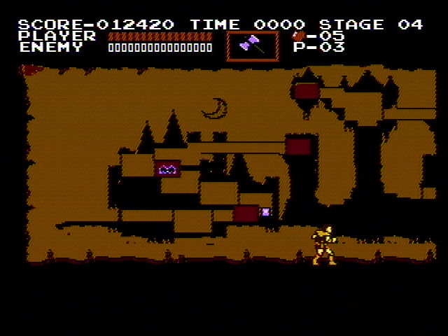 Castlevania NES The map of the levels