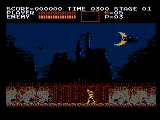 Castlevania NES Starting a new game