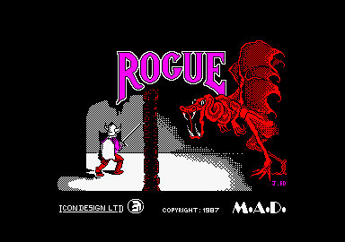 Rogue Amstrad CPC Title screen