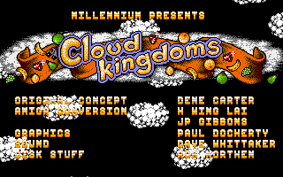 Cloud Kingdoms Amiga Title screen