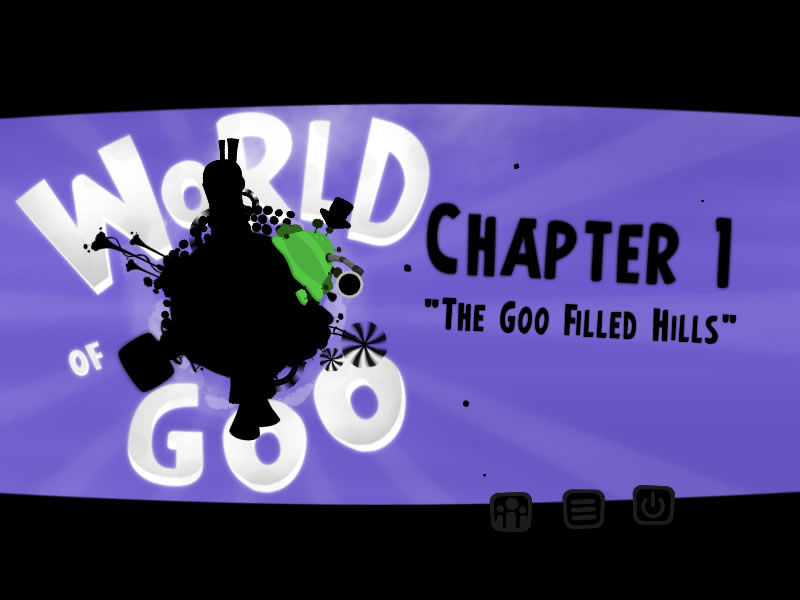 World of Goo Windows Main menu with the chapter selection