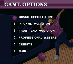 Brunswick World: Tournament of Champions SNES Game options
