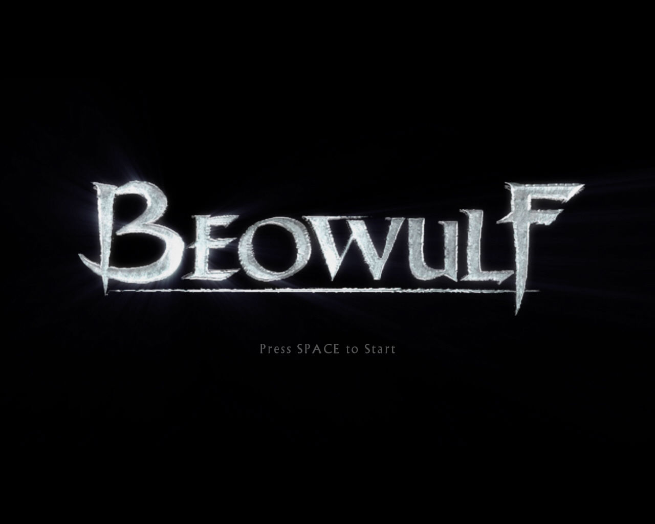 Beowulf: The Game Windows Title screen