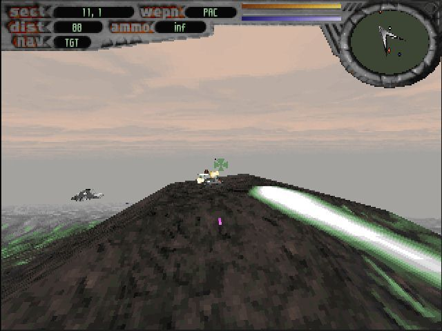 Terminal Velocity DOS A turret on top of the hill