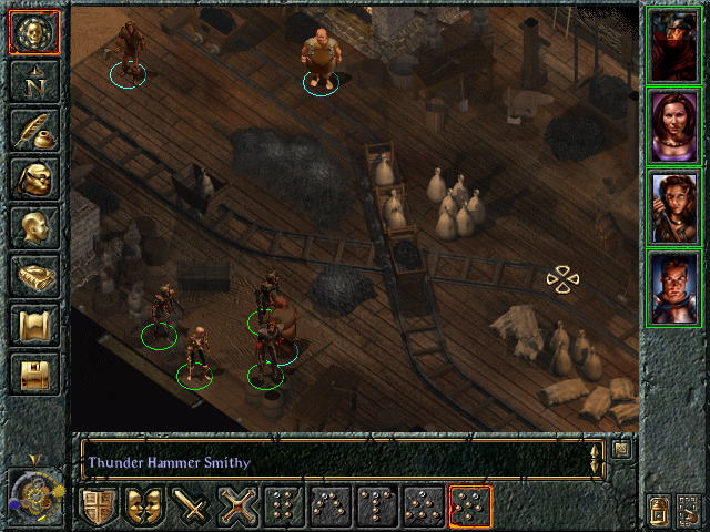 Baldur's Gate Windows Thunder Hammer Smithy in the town of Beregost has great supplies even with an iron shortage