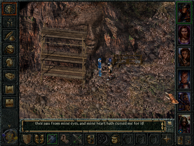 Baldur's Gate Windows Prism is an artist who is preoccupied with carving his face into this rock