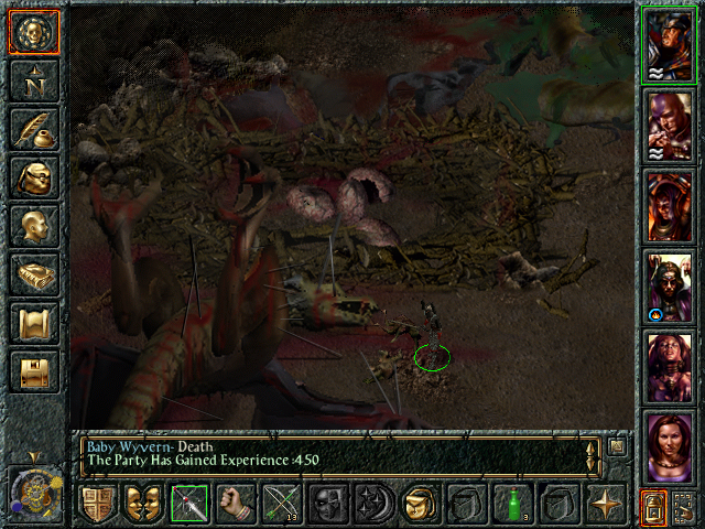 Baldur's Gate Windows Thankfully all I have to fight are baby wyvern