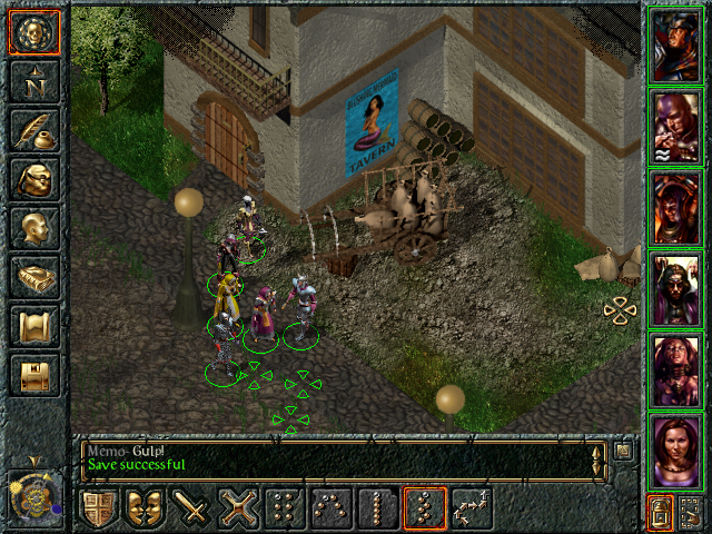 Baldur's Gate Windows Just south of the Blushing Mermaid Inn is where you go if you're into strumpets