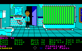 Maniac Mansion Amiga The bathroom.