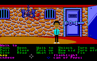 Maniac Mansion Amiga Down in the mansion's dungeon.