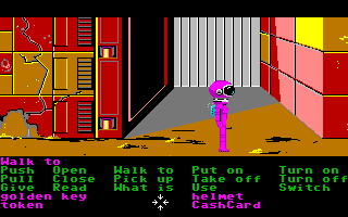 Zak McKracken and the Alien Mindbenders Amiga The entrance to the Great Chamber on Mars.