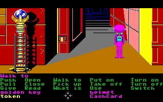Zak McKracken and the Alien Mindbenders Amiga A large open door inside of the Great Chamber.