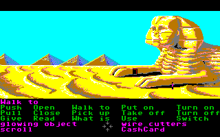 Zak McKracken and the Alien Mindbenders Amiga Near the Sphinx in Egypt.