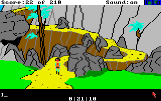 King's Quest III: To Heir is Human Amiga At the bottom of the mountain