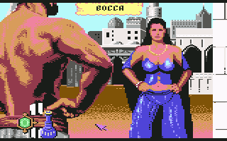Sinbad and the Throne of the Falcon Commodore 64 Libitina.