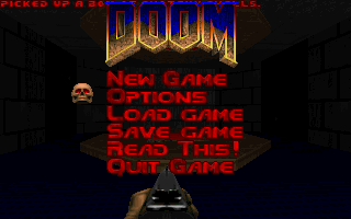 DOOM DOS Main menu