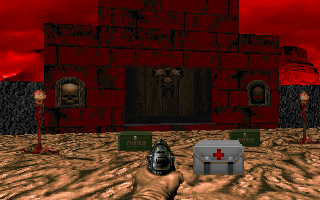 DOOM DOS Enter this door to begin final chapter. What horrors await you there?..