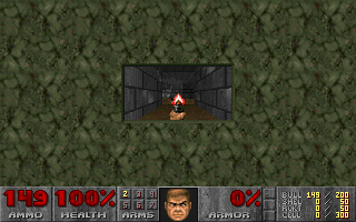 DOOM DOS You can adjust screen size to this small