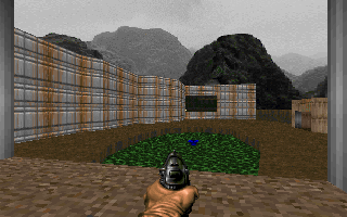 DOOM DOS No enemies outside this time... But for how long?