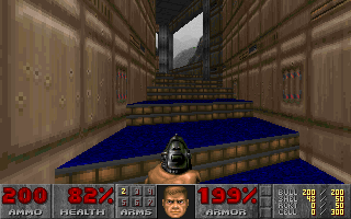 DOOM DOS Going upstairs - still in the first episode