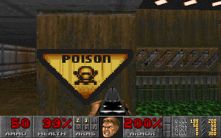 DOOM DOS Poison warning sign