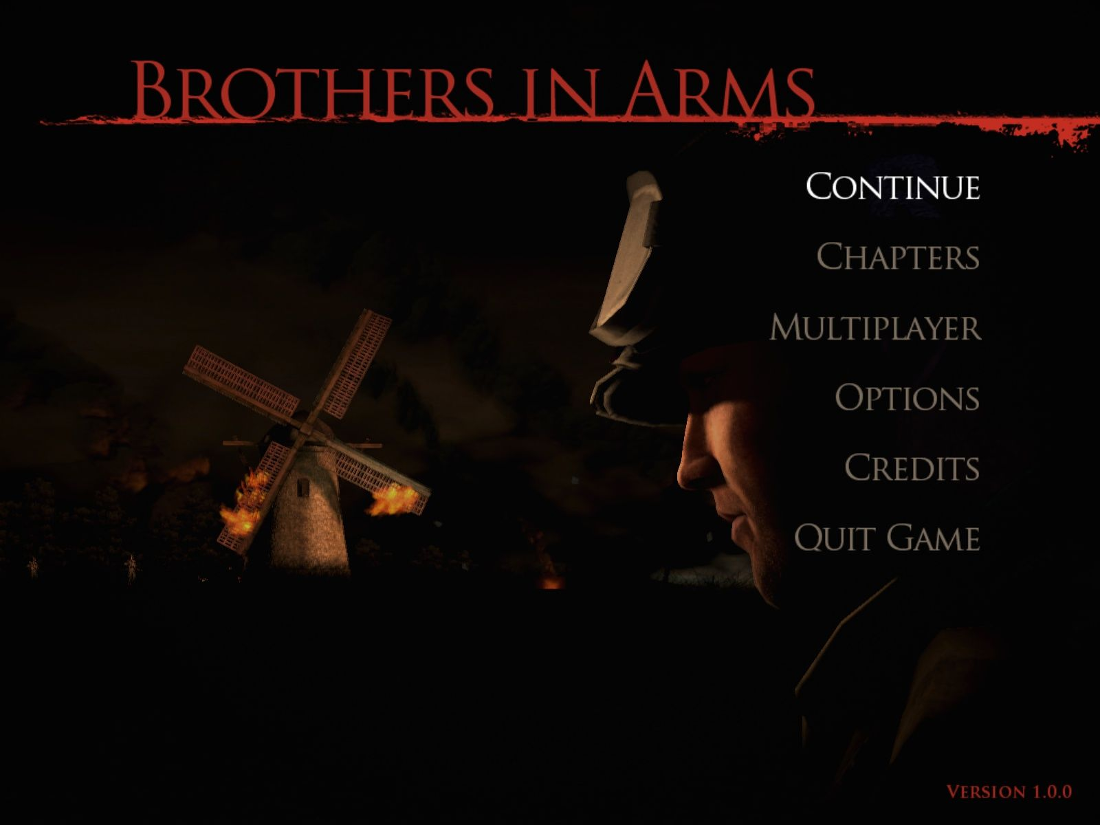 Brothers in Arms: Hell's Highway Windows Main Menu