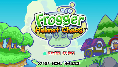 Frogger: Helmet Chaos PSP Title screen