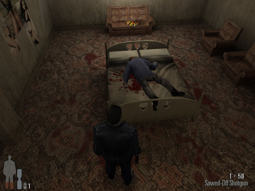 Max Payne Windows Dead guy in bed