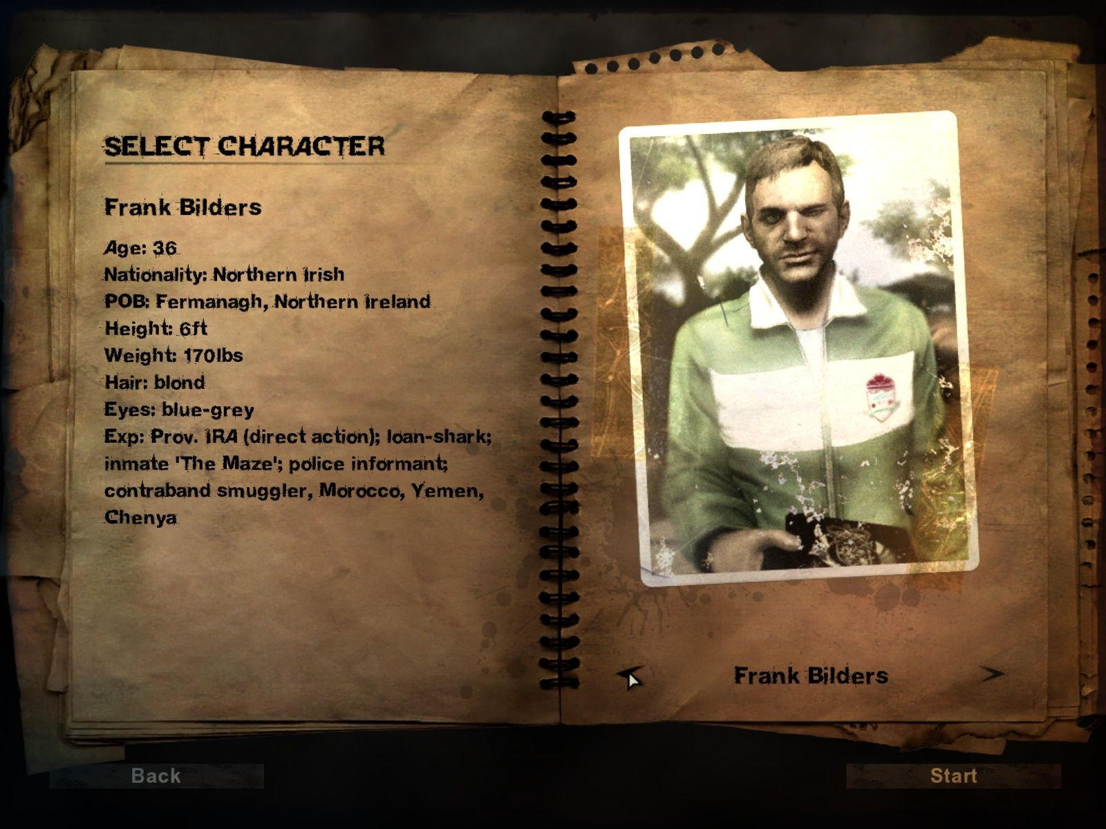 far cry 2 instructions