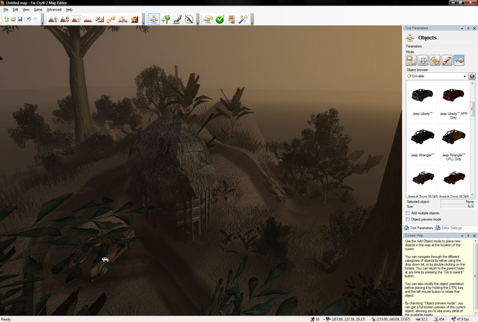 Far Cry 2 Windows The map editor is fairly easy to understand.