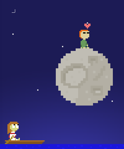 I wish I were the Moon Browser The setting at the start of the game - soon it will look completely different.