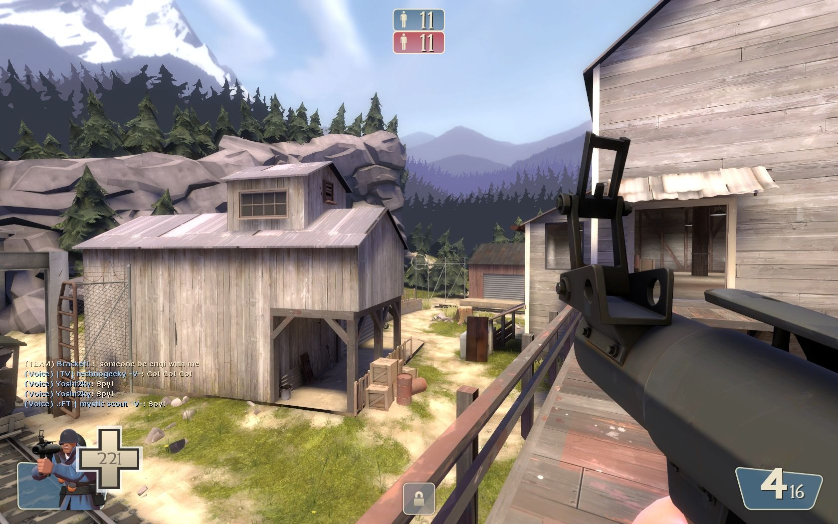 Team Fortress 2 Windows The lumberyard map adds a new environment to the game.